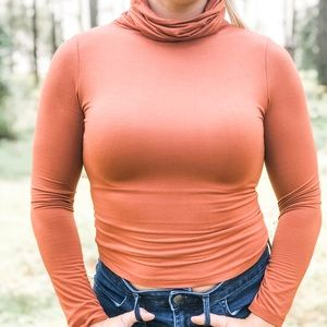 Rayon Modal Turtleneck Lined Small and Large